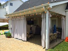 Upside Of Chaos: No Sew Outdoor Curtains