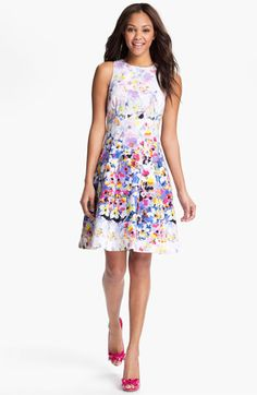 Maggy London Print Fit & Flare Dress available at #Nordstrom