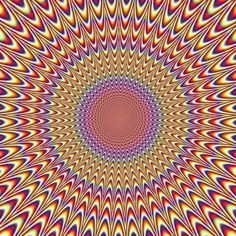 This is an excellent example of movement.  When you look at this painting you can see it's moving, but it's just your eyes playing tricks on you.