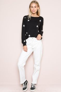 Brandy ♥ Melville |  Alanis Star Sweater - Sweaters - Clothing