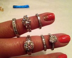 Beautiful collection of Diamond rings.