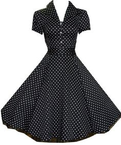 Black And White Rockabilly Photography | ... Dress Black White 50s Shirt Dress Rockabilly Vintage Pinup | eBay