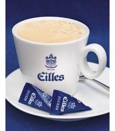 EILLES Cafe au Lait Tasse mit Design Untersetzer