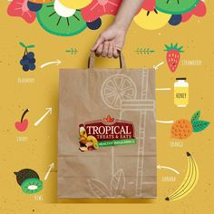 TROPICAL Treats & Eats, Visual Identity and Presentation, Tropical is a brand that helps us and see life in a healthier way, with this, we make the visual identity more attractive with strong and striking colors. 🍉🍒 Visit our behance and see our work. Let's go!!! Click here: https://www.behance.net/mujecreations  #instagood #picoftheday #tagsforlikes #organic #tropicalfood #mujecreations #mujecreationsdesign #designagency #food #logodesign #entrepreneurs #startup #company #graphicdesign…