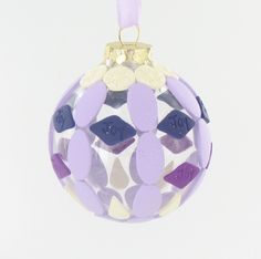 Sculpey III Purple Geometric Ornament