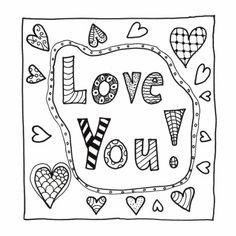Love You kleurkaart te verkrijgen bij kaartje2go.