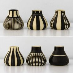 Images via Pinterest    Wow, I am in love. Not only with these amazing ceramics but with the woman behind them, Bauhaus inspired German c...