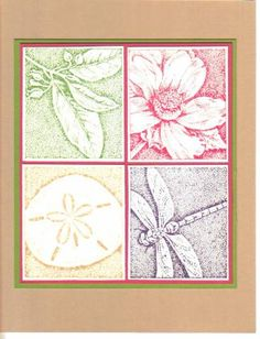 Stampin Up-Rubber  Stamp Flower Bud Reverse