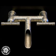 Lav, The WaterBridge Collection / This artful interpretation of raw plumbing materials that we call the Waterbridge Collection is certain to add a unique visual element to kitchens and baths. The cross of industrial chic and rustic country elegance complements many decorating styles and makes a bold, personal statement. Lav, Roman Tub Filler, Exposed Shower Systems and Accessories. Made in America. #rusticfaucets #designerfaucets #industrialchic @sonomaforge.com