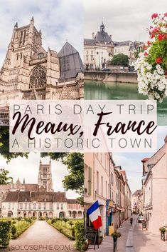 Day trip from Paris guide: Best things to do in Meaux, an ancient Roman city along the river Marne, Île de France, France. See the cathedral, visit the WWI museum, wander the streets and enjoy local speciality foods, brie de Meaux and mustard.