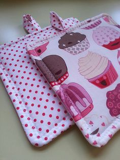 ~ Cute Potholders by stitchandsewstudio, via Flickr
