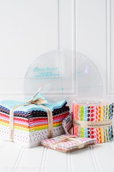 Project Polka Dot Giveaway, Enter to win a Polka Dot fabric bundle and Lori Holt Circle Rulers from @Riley Blake fabrics!