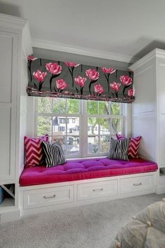 Look Over This Window-seat Ideas. The post Window-seat Ideas. appeared first on Home Decor Designs Trends . Luxury Interior Design, Home Design, Window Benches, Design Living Room, Design Bedroom, Bedroom Windows, Bay Windows, Window Seats Bedroom, Bay Window Seats