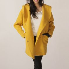 Hoodie Coat Yellow, $95, now featured on Fab. (@Vanessa Gross, I LOVE this!!!)