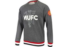 adidas Manchester United Graphic Sweatshirt - Grey Heather | SoccerMaster.com