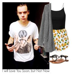 """""""I will love you soon, but not now"""" by one-direction-has-that-one-thing ❤ liked on Polyvore featuring Cameo Rose, Monki and Coach"""