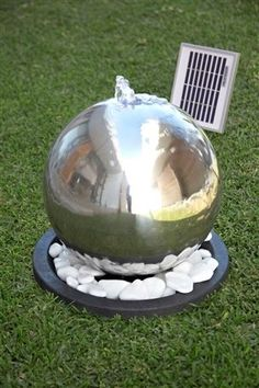 Buy Stainless Steel Sphere Water Feature from the Next UK online shop Sphere Water Feature, Outdoor Spaces, Outdoor Decor, Outdoor Stuff, Matching Wallpaper, Diy Art Projects, Sense Of Place, Garden Theme, Love Home