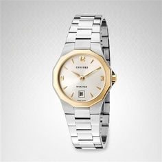 Click Image Above To Buy: Concord 0311395 Women's Mariner Silver Dial Gold & Stainless Steel Watch Fine Watches, Rolex Watches, Concord Watches, Swiss Army Watches, Stainless Steel Watch, Fashion Watches, Omega Watch, 18k Gold, Bracelet Watch