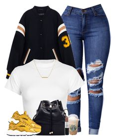 A fashion look from November 2016 featuring Motel tops, NIKE shoes and Dutch Basics necklaces. Browse and shop related looks. Cute Swag Outfits, Dope Outfits, Trendy Outfits, Fall Outfits, Teenage Outfits, Teen Fashion Outfits, School Outfits, Dope Fashion, Polyvore Outfits