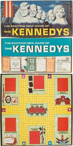 Transogram's 1962 The Kennedys board game