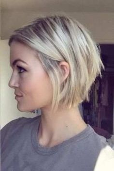 25 short bob hairstyles for fine hair - short bob haircuts for thin hair . - 25 short bob hairstyles for fine hair – short bob haircuts for thin hair – - Inverted Bob Hairstyles, Haircuts For Fine Hair, Short Bob Haircuts, Undercut Hairstyles, Blonde Inverted Bob, Haircut Short, Layered Inverted Bob, Short Layered Bobs, Reverse Bob Haircut