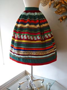 50s Skirt // Vintage 1950s Mexican Circle Skirt by xtabayvintage, $98.00