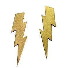 Χρυσά σκουλαρίκια κεραυνοί - Κοσμήματα - The Girls