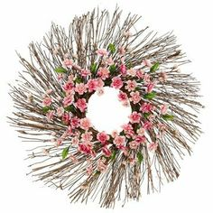 "24"" Silk Plum Blossom Flower Hanging Wreath -2 Tone Pink (case of 2) by Silks Are Forever. $67.99. This listing is for 1 case. You will receive 2 items per case - 1 item shown in picture. Height - 24"". Stunningly beautiful, these hand crafted artificial wreaths have proven time and again that they are just as beautiful, breathtakingly gorgeous and romantic as the most expensive silk flowers you can buy. And... You'll get to cherish them for a lifetime! This is a beau..."