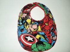 SUPERHERO Baby Bib - Newborn Bib Or Baby Toddler Bib - Marvel Comics Bib - Minky Super Hero  Bib - Baby Shower - Avengers on Etsy, $7.45