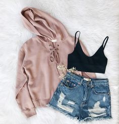 • Ellie Sweater in Mauve, Phoenix Shorts, and Wynona Bralette • Shop all new arrivals at Frankie- Phoenix.com #fall #clothes #ootd