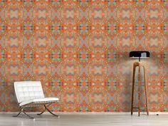 Design #Tapete Farbenfrohes Geflecht