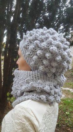 Double snood et bonnet loose en bobble stitch au crochet - Les ateliers de  maman Touchatou 515d770cbe8