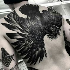 Blackwork by Kelly Violet #KellyViolet #crow #figurative #blackwork