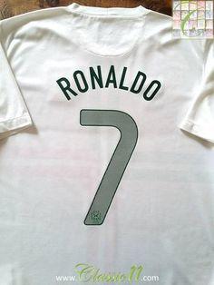 Détails sur Short Portugal Nike vintage Ronaldo #7 Football blanc Football L