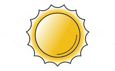 Sun Icon by Iconika on @creativemarket