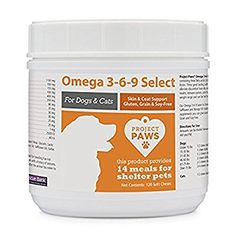 Amazon.com: Project Paws Omega 3-6-9 Select Soft Chews 120 Count: Pet Supplies