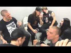Backstage Jam w/ Dave Brockie, Philip Anselmo & Satyricon rocking out to Slayer.