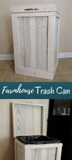 I've been looking for a trash can that had a farmhouse style look. This is perfect. #ad #DIYHomeDecorFarmhouseStyle
