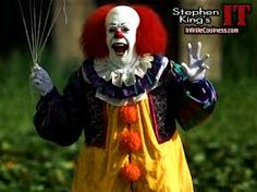 Pennywise revamped - maybe  yellow skirt/tights, corset with bollaro jacket and ruffle collar?