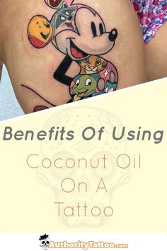 What you may not know is that coconut oil is actually a brilliant, cheap, and totally natural/organic tattoo healing balm - and we'll show you exactly why in this article. Coconut Oil For Dogs, Coconut Oil For Skin, Trendy Tattoos, New Tattoos, Tattoo Care Instructions, Flower Vine Tattoos, Learn To Tattoo, Organic Tattoo, Tattoo Apprenticeship