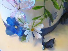 Gelatin flowers, butterflies