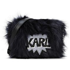 Karl Lagerfeld K/Pop Fuzzy Crossbody (€230) ❤ liked on Polyvore featuring bags, handbags, shoulder bags, dark sapphire, metallic purse, crossbody purse, karl lagerfeld, cross-body handbag and karl lagerfeld purse
