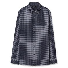 Topten10 Unisex Little Black Checks Formal Oxford Buttondown Cotton Dress Shirts #Topten10