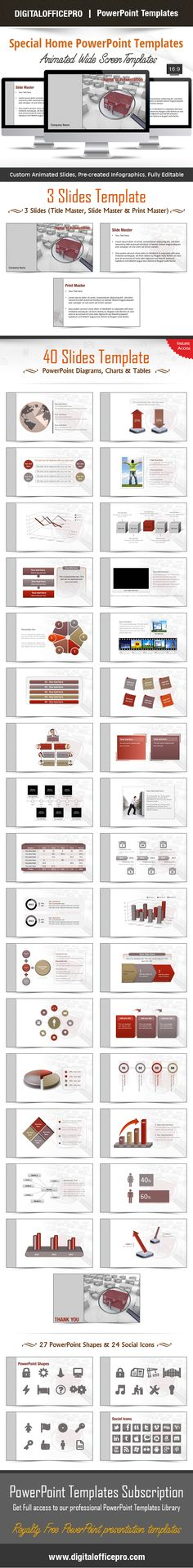 Impress and Engage your audience with Special Home PowerPoint Template and Special Home PowerPoint Backgrounds from DigitalOfficePro. Each template comes with a set of PowerPoint Diagrams, Charts & Shapes and are available for instant download.