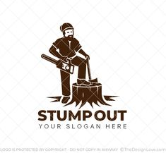 Logo for industries related to stump removal business and wood cutting companies. #logodesigner #startups #logomaker #business #creativedesigns #branding #logoart #logo
