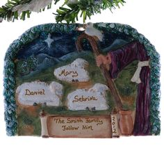 Family of three personalized ornament  sheep by Christmaskeeper, $13.95