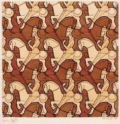 1946 M.C Escher 14 Horseman