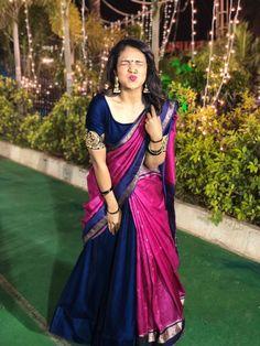 Order contact my whatsapp number 7874133176 Lehenga Saree Design, Half Saree Lehenga, Lehnga Dress, Saree Look, Lehenga Designs, Lehanga Saree, Lahenga, Sarees, Indian Bridal Fashion