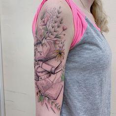 Awe-inspiring Book Tattoos for Literature Lovers - KickAss Things Forarm Tattoos, Life Tattoos, Body Art Tattoos, Tatoos, Geek Tattoos, Ankle Tattoos, Arrow Tattoos, Word Tattoos, Writer Tattoo