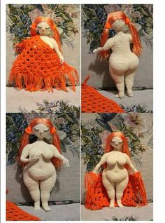 Amigurumi desnuda